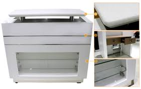good beauty reception desk with glass panel glass display reception