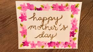 Homemade Mothers Day Card Kids Crafts Diy Youtube