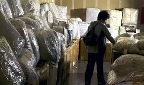 a customer s at a warehouse for seattle based bedding manufacturer pacific coast feather