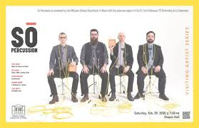 Sō Percussion – Visiting Artist Series – Events and Announcements