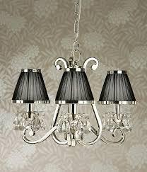 luxuria 3 light chandelier black luxuria 3 light chandelier with shade