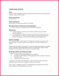Lit Review Example Apa Apa Literature Review Example Sop Examples