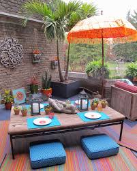 eclectic outdoor furniture. 10 Simple Steps To Create Decorate Coffee Table: Table In Eclectic Patio With Outdoor Furniture