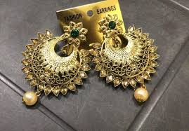 Dot Exports <b>Gold Traditional Indian Ethnic</b> Earrings, Rs 145 /pair | ID ...