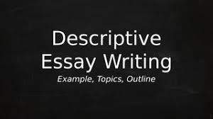 Descriptive Essay Writing Example Topics Outline By