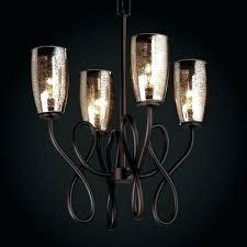 mercury glass chandelier round