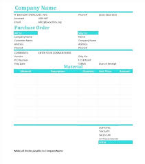 Free Purchase Order Template Excel Free Purchase Order Template Automobile Form Car Format