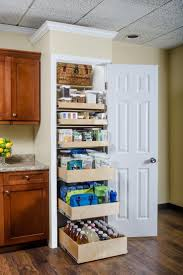 beautiful design of over the door pantry organizer with wooden basket