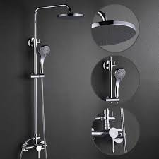 contemporary shower heads. Contemporary Shower Faucet With 8 Inch Head + Hand FSC002 Heads