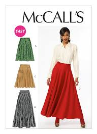Mccall Patterns Stunning M48 Misses' Skirts Sewing Pattern McCall's Patterns
