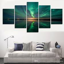 framed printed printed aurora night picture painting wall art children s room decor poster canvas online with 160 66 piece on earthhousestores s store  on canvas wall art childrens rooms with framed printed printed aurora night picture painting wall art