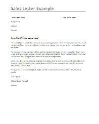 Sales Letter Sales Letter Samples 4 Free Printable Ms Word Templates