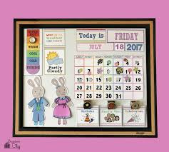 DIY Children's Calendar with free printables DIY Children's Calendar with  free printables