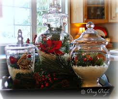Apothecary Jars Christmas Decorations Dining Delight Christmas Decor Tip For The Kitchen 67