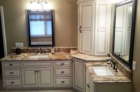 white bathroom cabinets with granite. Unique White Granitewhitelightbrownbathroomwhitecabinets To White Bathroom Cabinets With Granite O