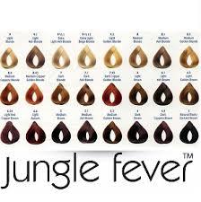 Jungle Fever Color Chart Large Jungle Fever Hair Tints