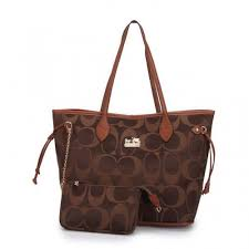 Coach Legacy In Monogram Medium Coffee Totes DCH