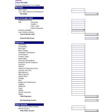 Printable Income Statement Income Statement Template Free Printable Income Statement For 20