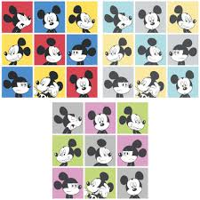 Mickey Mouse Bedroom Wallpaper New Official Disney Mickey Mouse Pop Art Pattern Cartoon Childrens