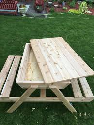 How to build a kids picnic table and sandbox combo   Picnic tables ...