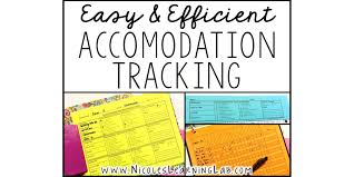 Special Education Accommodations Chart Tracking Accommodations Easily And Efficiently Learning Lab