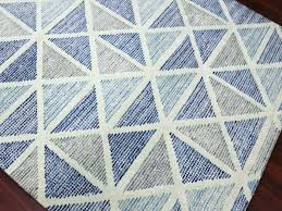 Blue Grey Area Rugs Navy And White Rug 5x7