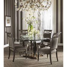 Glass Dining Table Round Fine Furniture Design Belvedere 64 Inch Round Glass Top Dining