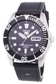 seiko 5 sports automatic ratio black leather snzf17k1 ls8 men s watch