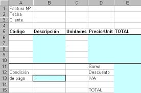 formato para facturas en excel ejemplo de factura