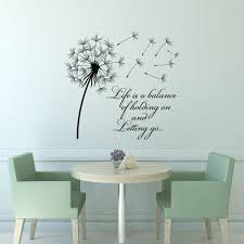 Wall: Beautiful Dandelion Wall Decal To Bring Your Room Feel Fresh With  Gold Wall Art