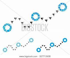 Dotted Chart Mosaic Vector Photo Free Trial Bigstock