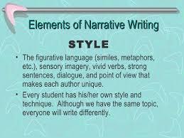 narrative writing  9 elements of narrative