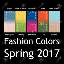 2017 春の流行色とファッションのインフォ グラフィックをぼやけています
