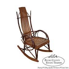 9511 vintage bent wood hickory twig adirondack rocking chair rocker