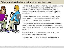 hospital attendant interview questions documents tips hospital attendant interview questions previous