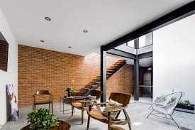 Exposed Brick Wall Exposed Brick Walls Steal The Show In This Modern Industrial Home