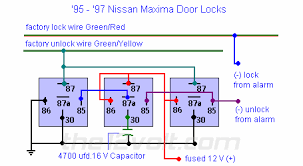 locks nissan maxima double ground pulse relay diagram door locks nissan maxima 1995 1997 double ground pulse relay diagram