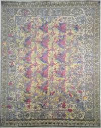 9 9 wool bambo silk usr718 grey 8x10 ft 250x300 cm