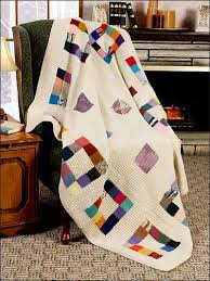 Knitting - Textured - Patchwork Squares Afghan & Patchwork Squares Afghan Adamdwight.com