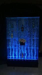 aquarium wall water fountains led light bubble column