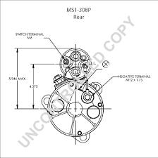 ms1 308p starter motor product details prestolite leece neville ms1 308p rear dim drawing