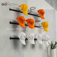 wall mounted metal moveable hat storage