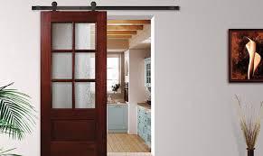 glasscraft wooden barn doors