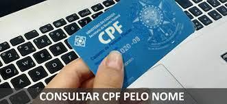 consultar cpf pelo nome de uma pessoa