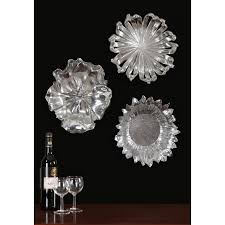 hover to zoom on flower metal wall art decor with uttermost silver flowers metal wall art set of three 08503 bellacor