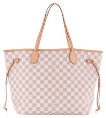 louis vuitton neverfull white. louis vuitton azur neverfull tote in damier white