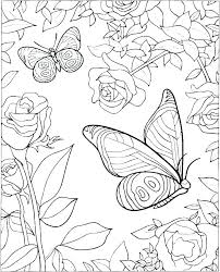 Printable Coloring Pages Of Flowers And Butterflies Coloring Pages Of Butterflies Pagebypaige Co