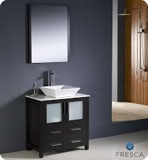 fresca torino 30 espresso modern bathroom vanity w vessel sink