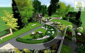 3d garden design. Excellent Example Of A Contemporary Garden Design Visualization In 3D For Sloping Lot With Varied 3d I