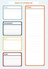 Sales Daily Planner Template Image Collections - Template Design Ideas